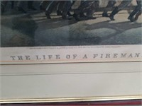 The life of a fireman picture 35 x 27