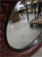 Round decorative wall mirror 52 in