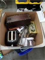 Box of toaster and miscellaneous