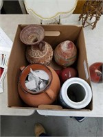 Box of pottery pieces