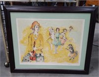 Signed Harlequin lithograph by Garin