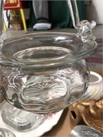 Box of misc glass, dishes, ashtray