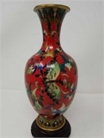 Cloisonne vase 10 inches tall