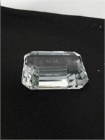 Tiffany & Co Crystal paperweight with w b etched