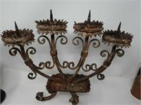 Italian metal candle holder