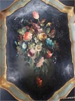 """Italian hand painted tray / 24""""×15"""""""
