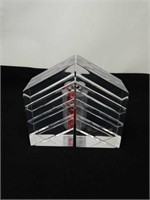 Pair of lucite bookends 8 x 4
