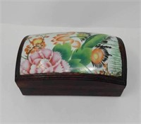 Antique porcelain top jewelry box