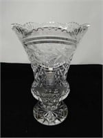 Cut crystal vase 10 in tall