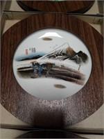 Box of 9 Asian framed wall plates