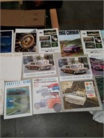 Box of automobile brochures