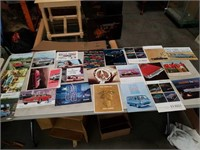 Box of automobile brochures
