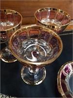 16 piece Venetian glass caviar set
