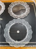 "Group of 4 lalique plates 11"" in diameter"