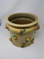 Contemporary signed  pottery pot decorated with