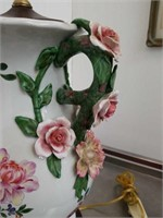 Asian floral lamp 32 by 11 inches
