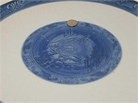 """Antique Asian signed porcelain charger / 14""""in"""