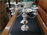 """Pr of plated candelabras / 13""""×15"""""""