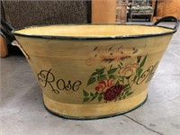 Hand painted tub