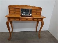 2 piece blond vanity table