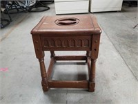 Antique Monterey style stool made by Cochran