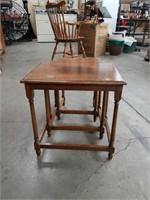 Antique oak 3pc. nest of tables