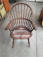 Antique oak arm chair