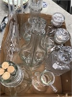 Box of glass containers