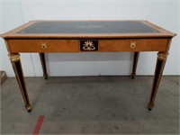 Roman-style leather top desk by Mobili columbo