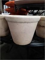 """Set of 3 pottery flower pots/ 13""""×11"""""""