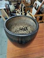 """Brn.pottery flower pot/ 11""""×11"""""""