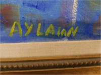Large signed floral painting by AYLAIAN