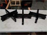 Box of ebony wooden stands
