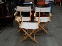3 director's chairs 1 no back/ pier imports