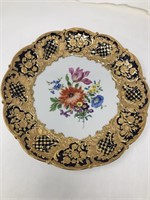 Hand painted Meissen plate