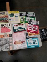 Box of vintage automobile brochures