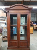 Armoire / curio cabinet with shelves with glass