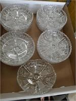 Box of cut crystal   Bowls