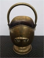 "Antique brass coal bucket 12 ""×19"""