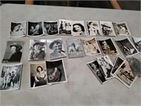 Box of old celebrity photos