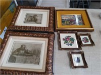 Box of pictures, needlepoint wall art