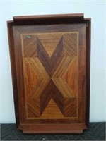 "Inlay wood tray 19""×12"""
