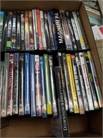 Large box of misc movies, DVD's