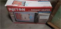 Patton 1500 watt radiant heater in box box is as