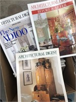 Box of architectural digest magazines