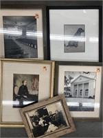 Box of framed prints