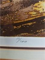 "Pencil signed print 28""×36"""