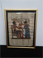 """Egyptian painting on papyrus 16""""×20"""""""