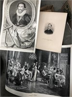 Box of vintage prints