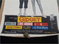 "Vintage GIDGET Movie poster 27""×40"""